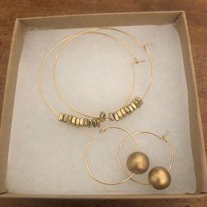 Natalie Borton gold plated hoops